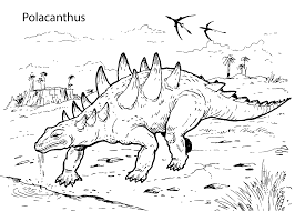 Free Printable Dinosaur Coloring Pages Image 4 Dinosaurs