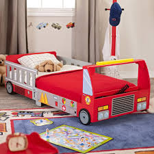 KidKraft Firetruck Toddler Bed | Josh Bday Ideas | Pinterest ... Best Dream Factory Fire Truck Bed In A Bag Comforter Setblue Pic Of New Stock Plastic Toddler 16278 Toddler Bedroom Fascating Platform Firetruck Frame For Your Little Hero Tikes Baby Beds Ebay Room Engine Amazing Step Kid Us Fniture At Pics Lightning Mcqueen Cars Kids Spray Rescue Regarding 2 Incredible And Toys With Slide Recall Free Size Fun Pict Amazoncom Games Nolan Pinterest Pirate Ship Price Choosing