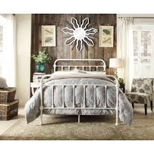 Monaco Double Size Modern Metal Bed Frame in White