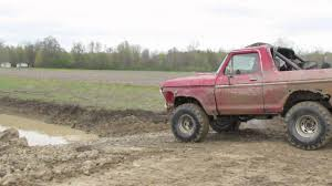 100 Ford Trucks Mudding Old Truck At Back 40 Hill And Hole YouTube