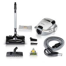 Prolux White TerraVac 5 Speed Quiet Canister Vacuum Cleaner with
