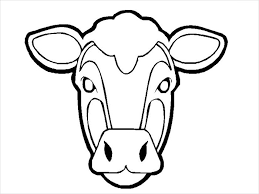 Small Cow Mask Template