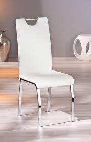 chaise design de salle à manger coloris blanc lot de 2 ushuaya
