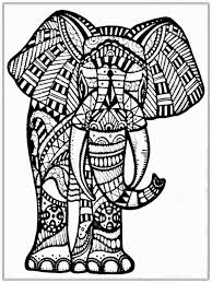 Abstract Elephant Coloring Pages 8963421