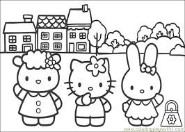 Hello Kitty 09 Coloring Page