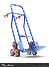 Blue Stair Climbing Hand Truck — Stock Photo © Mipan #142270968