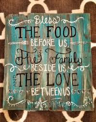 Items Similar To Rustic Teal Kitchen Sign On Etsy