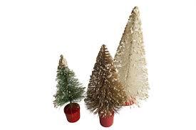 Bottle Brush Trees Vintage Christmas Decorations