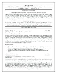 Resume Objective Project Manager Best Sample Marketing For Management