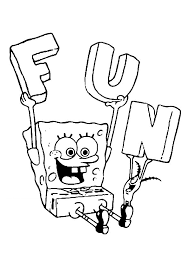 Sponge Bob Squarepants Squidward And Mr Krabs Coloring Pages Free