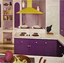 Flashback 1970s Purple And Yellow Kitchen