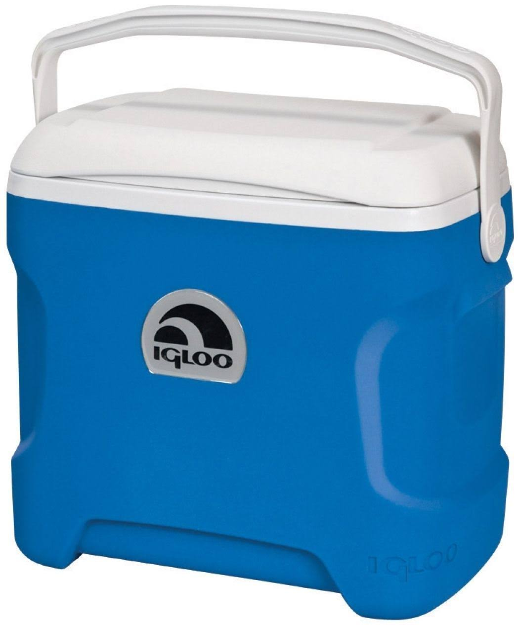Igloo Contour Cooler - Blue and White, 30qt