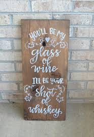 Rustic Hand Lettered Wedding Sign Wine Whiskey