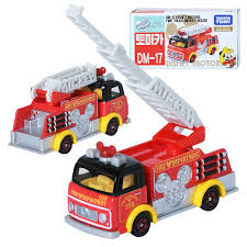 100 Mickey Mouse Fire Truck TAKARA TOMY TOMICA DISNEY MOTORS DM17 Mini