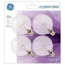 ge 25 watt g16 incandescent light bulb 4 pack soft white