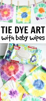 Easy Tie Dye Art With Baby Wipes