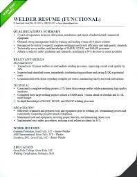 Targeted Resume Objective Examples Format Welder Functional Sample