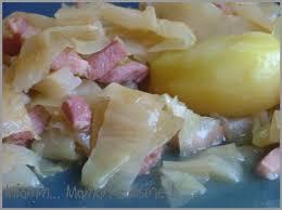 comment cuisiner le choux blanc chou blanc pommes de terre aux lardons miamm maman cuisine