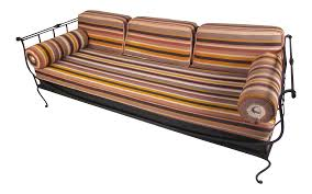 Crate And Barrel Petrie Sofa by Modern Wrought Iron Daybed 0819