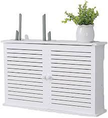 wifi router ablageboden wandhalterung wohnzimmer tv wand doppelregal set top box regal kreative weiß dekorative floating regal