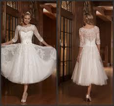 discount ivory 50s 60s vintage lace short wedding dresses 2016