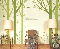 inch large tree wall decals stickers for rooms forest tour