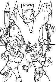 Ghost Halloween Coloring Pages Print Out