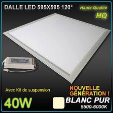 dalle led faux plafond 60 x 60 40w 5500 6000 k éclairage led