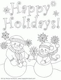 Happy Holidays Coloring Pages Printable Home