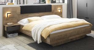 bettanlage galen in eiche montana und matera grau schlafzimmer set 3 teilig mit bett liegefläche 180 x 200 cm und 2 x nachttisch