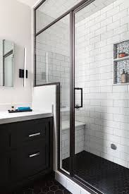 san francisco bathroom remodel steam shower black hex floor