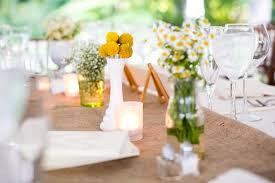 Romantic Country Wedding Reception Table