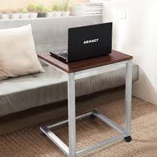 Sofa Snack Table Walmart by Costway Coffee Tray Sofa Side End Table Lap Stand Tv Snack Ottoman