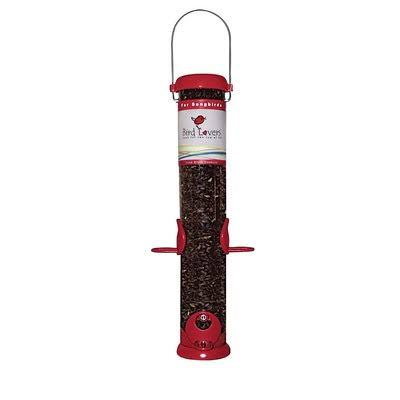 "Droll Yankees Inc Sunflower Seed Tube Bird Feeder - for Finches, 15"", Red"