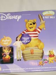 Disney Halloween Airblown Inflatables by New 8 U0027 Tall Disney Winnie The Pooh Lighted Halloween Airblown