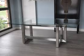 Kitchen Table Top Decorating Ideas by Impressive Stainless Steel Dining Table Glass Top Decorate Decor