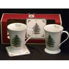 Spode Christmas Tree Mug Cafe Shape by Spode Christmas Tree 3 Piece Flatware Serving Set Cultery And