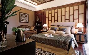 InteriorAsian Bedroom Interior Decor Ideas With Wood Chinese Style Wall Art Asian
