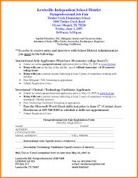 Paraprofessional Resume SampleResume For DOC By Bhj21185 Inside Caption