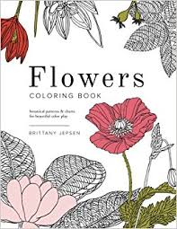 Flowers Coloring Book Botanical Patterns And Charts For Beautiful Color Play Brittany Watson Jepsen 9780692589564 Amazon Books
