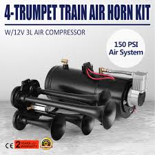 4-Trumpet Train Air Horn Kit 150 PSI 150db Air System With 12V Air ... Tips On Where To Buy The Best Train Horn Kits Horns Information Truck Horn 12 And 24 Volt 2 Trumpet Air Loudest Kleinn 142db Air Compressor Kit230 Kit Kleinn Velo230 Fits 09 Hornblasters Hkc3228v Outlaw 228v Chrome 150db Air Horn Triple Tubes Loud Black For Car Universal 125db 12v Silver Trumpet Musical Dixie Duke Hazzard Trucks 155db 200psi Viair System Conductors Special How Install Bolton On A 2010 Silverado Ram1500230 Ram 1500 230 With 150psi Airchime K5 540