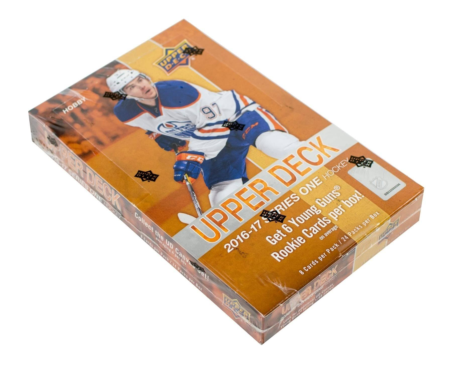 2016-17 NHL Upper Deck Series 1 Booster Box Trading Cards