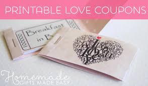 Romantic Coupons Printable Christmas Gift