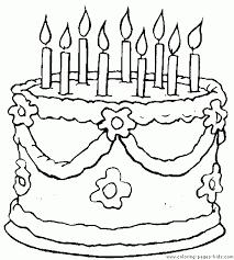Birthday Cake Color Page More Free Printable Holiday Season Coloring