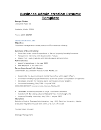 Sample Resume For Business Administration Graduate