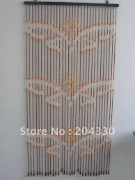 Natural Bamboo Beaded Door Curtain by Curtain Beads Wood Decorate The House With Beautiful Curtains