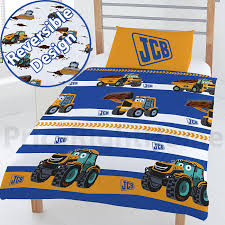 100 Dump Truck Toddler Bed JCB JUNIOR DUVET COVER SET TODDLER REVERSIBLE BEDDING JOEY JCB