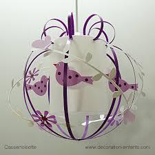 chambre enfant violet suspension enfant oiseau violet et blanc fabrique casse noisette