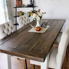 DIY Dining Room Table With 2x8 Boards From Lowes This Is The Coolest