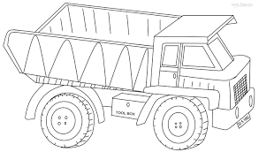 Trucks Coloring Pages Printable Dump Truck For Kids Cool2bKids At ...